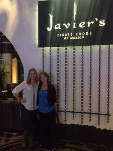Heidi & Megan, enjoying dinner at Javier's Las Vegas